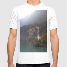 House on the Lake MEDIUM White Mens Fitted Tee