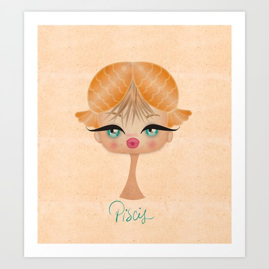 Piscis - Zodiac Sign Art Print
