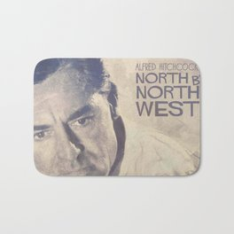 North by Northwest, Alfred Hitchcock, vintage movie poster, Cary Grant, minimalist Bath Mat