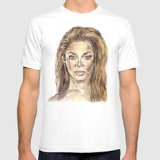Beyoncee is Music White Mens Fitted Tee SMALL