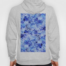 Alien Water - Abstract, crazy, textured, blue design Hoody