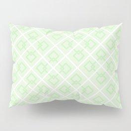 Zesty Green Interlock Cross Pattern Pillow Sham