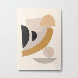 Minimal Abstrac Shapes 11 Metal Print
