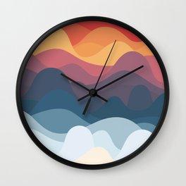 Moody Waves Wall Clock
