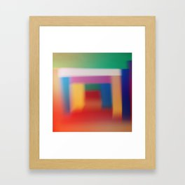 Colored blur background 3 Framed Art Print