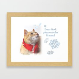 Dear God, Please Make It Tuna Framed Art Print