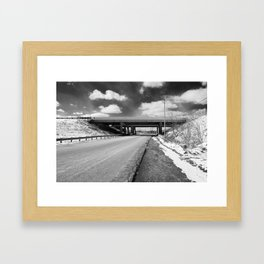 Rock Riffle Rd, Athens, Ohio Framed Art Print