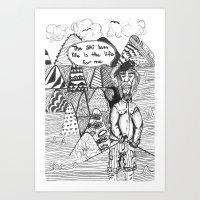 The Ski Bum Life  Art Print