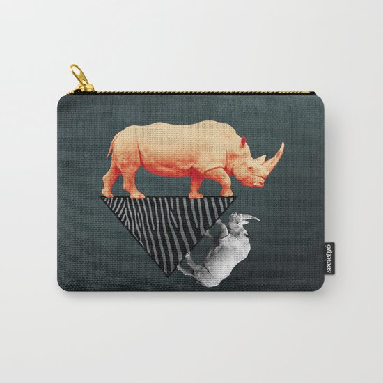 The orange rhinoceros who wanted to become a zebra Carry-All Pouch