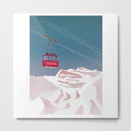Mountain Love Gondola Metal Print