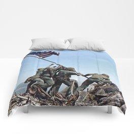 Iwo Jima Color Comforters