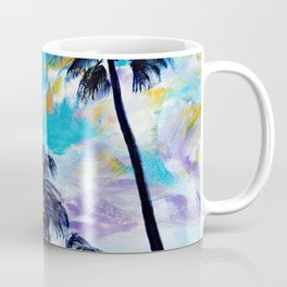 Oceanside Palm Trees Coffee Mug