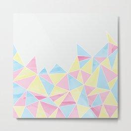 Pastel Watercolour Geometric Metal Print