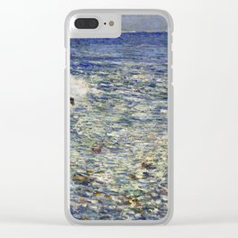 Childe Hassam Surf, Isles of Shoals Clear iPhone Case