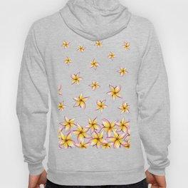 Lillies - Handpainted pattern - white background Hoody