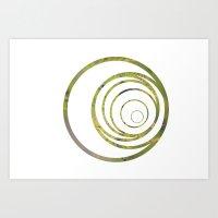 Green strange circle Art Print
