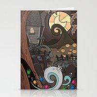 nightmare before christmas Stationery Cards featuring Nightmare Before Christmas by Lacey Simpson