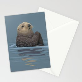 Sea Otter Stationery Cards