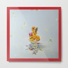 Year of the Rooster (with border) Metal Print