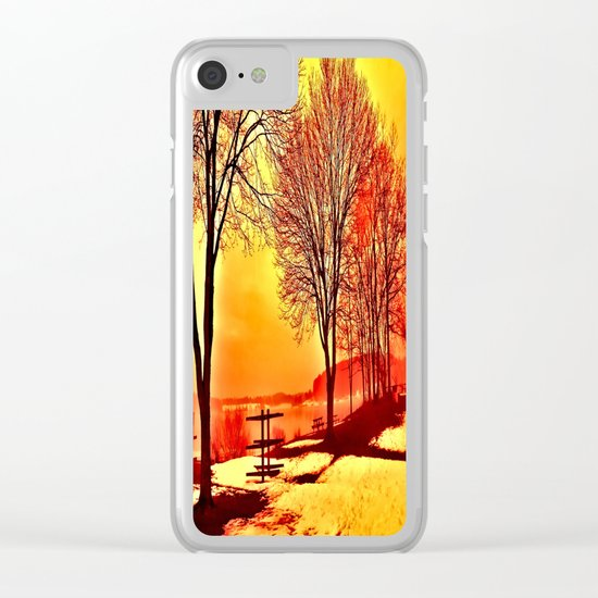 Autumn Lake Clear iPhone Case