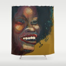Glorious Smile, Glorious Hair, Glorious Glow: African Woman Shower Curtain