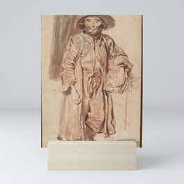 Antoine Watteau - The Old Savoyard (1715) Mini Art Print