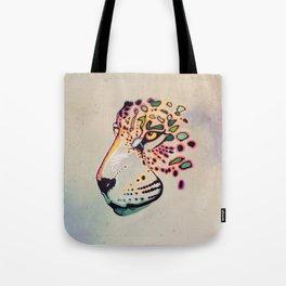 Fractal Jaguar Tote Bag