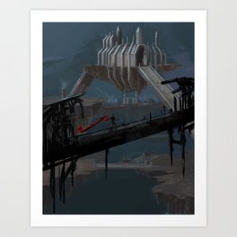 View from a Bridge Art Print
