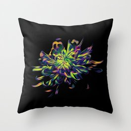 Rainbow Floral Throw Pillow
