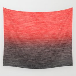 Coral ombre Wall Tapestry