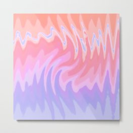 ZigZag Sunset Metal Print