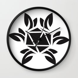 ripe jewel - black Wall Clock