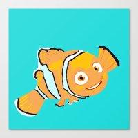 nemo Canvas Prints featuring Nemo by Roythehuman