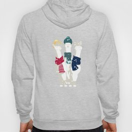 Happy llamas Christmas choir Hoody