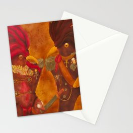 Roosters with Ranks / Galos com Galões Stationery Cards
