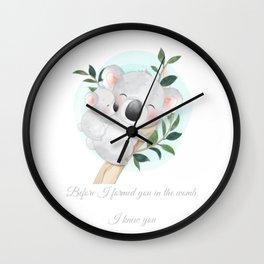Koala baby nursery decor  Wall Clock
