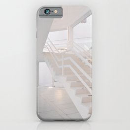 White staircase in a modern house iPhone Case