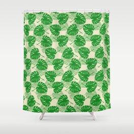 Monstera pattern Shower Curtain
