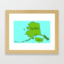 Alaska and the Lower 48 Forty-eight Framed Art Print