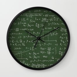 Geek math or economic pattern Wall Clock