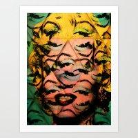 monroe Art Prints featuring Monroe by David