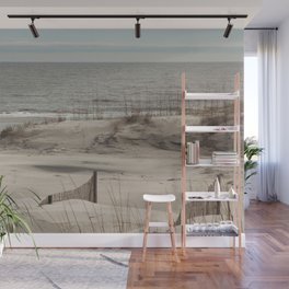Sand Dunes with Fences Wall Mural