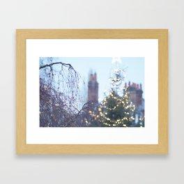 Christmas Lights in Marlow Framed Art Print