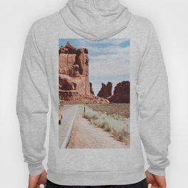 Yellow Van Desert Road Trip Photography Hoody