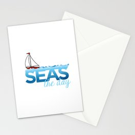 Seas the Day Stationery Cards