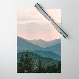 Smoky Mountain Pastel Sunset Wrapping Paper