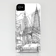 New York! B&W iPhone (4, 4s) Slim Case
