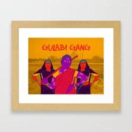 Gulabi Gang Framed Art Print