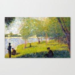 Georges Seurat Study for A Sunday on La Grande Jatte Canvas Print