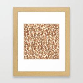 Golden confetti glitter sparkl Framed Art Print